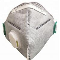 Wholesale Grey Clean Room Accessories Carbon Dust Mask With Adjustable Metal Nose Band from china suppliers