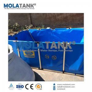 MolaTank 2,200L PVC Steel Frame Square Collapsible Movable Koi Fish Tank