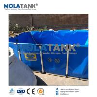 Quality MolaTank 2,200L PVC Steel Frame Square Collapsible Movable Koi Fish Tank for sale