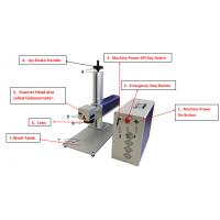 Wholesale Copper Brass Aluminum Laser Marking Machine 20W/30W 0.01mm Repeated Accuracy from china suppliers