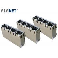 Buy cheap 4 Ports ICM RJ45 Multiple Port Connectors 1G Support 100W UPoE+ With LED from wholesalers