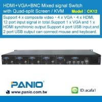 Wholesale HDMI 4 in 1 out 1080P KVM Seamless Switch and Seamless VGA Switch Quad multi-Viewer from china suppliers