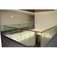 Wholesale Modern design aluminum u base channel glass railing for stairwell/ decking use from china suppliers