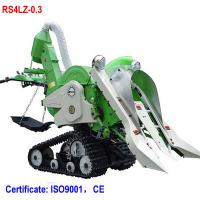 Mini walking rice combine harvester paddy harvester for rice and wheat