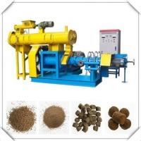Wholesale Blue/yellow Fish Feed Extruder Machine with 0.18t/h-5t/h production from china suppliers