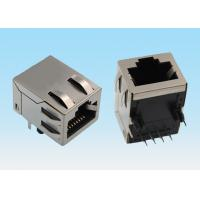 Wholesale 8 Pin RJ45 Network Connector Single Port Shield With Slot On Both Sides from china suppliers