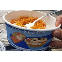 Wholesale Hot Cake Insulated Paper Food Containers With Lids , Black Disposable Soup Bowls from china suppliers