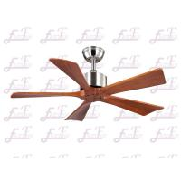 Wholesale East Fan 42 inch five nature wood blades brushed nickel modern ceiling Fans without light from china suppliers