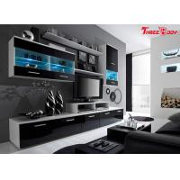 China High End Contemporary Bedroom Furniture Living Room Wall Units With LED Lights on sale
