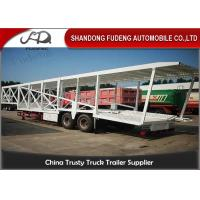 Wholesale Double Axles Car Carrier Trailer For 9 Cars Transport Steel Material from china suppliers