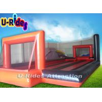 Wholesale 11 Meter Long Inflatable Advertising Products Orange Inflatable Football Court from china suppliers