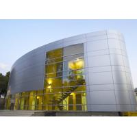 China Silver Gold Non Combustible Aluminum Curtain Wall Extrusions Facade Cladding on sale
