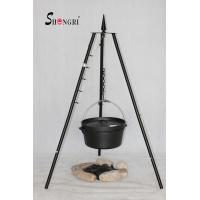Wholesale camping tripod grill with cast iron Dutch oven from china suppliers