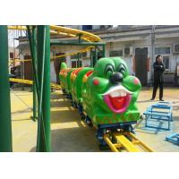 Wholesale Green Worm Shape Kiddie Roller Coaster For Large Parks And Tourist Attractions from china suppliers