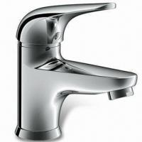 Wholesale Kitchen Faucet with Single Handle Solid Basin Mixer, Made of Brass from china suppliers