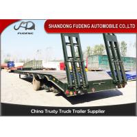Wholesale Semi Low Bed Trailer Truck 4 Axles 120 Tons , Heavy Duty Utility Trailer with BPW axle from china suppliers