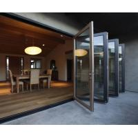 China weather stripping glass interior folding doors,Aluminium Bi Transparent Partition Soundproof Insulated on sale