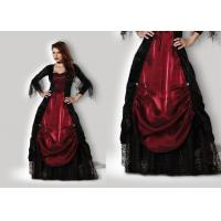 Wholesale Gothic Vampiress 1002 Halloween Adult Costumes Red Black Color With Petticoat from china suppliers