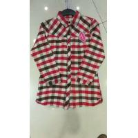 Wholesale wholesale in stock cheap women's clothes full sleeve plaid shirts casual lady's garments stock lots 3 colors  full szie from china suppliers