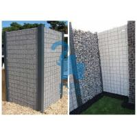 China High Speed Roads Paving Stone Cages Gabions , 4pcs Metal Clips Gabion Fence Panels on sale