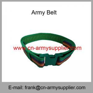Wholesale Cheap China Multi-Color Kenya Army Police PP Webbing Belt