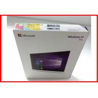 Wholesale Microsoft Software Windows 10 Pro Retail Box / Pro Pack  with USB flash 100% activated online OEM license from china suppliers
