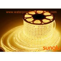 China 2700K 5730 120D SMD 5630 LED Strip Light / Yellow LED Rope Lights for Advertisement on sale