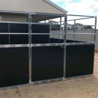 Wholesale Customized Wood Material Horse Stable Box Easy Assembly In Black Color from china suppliers