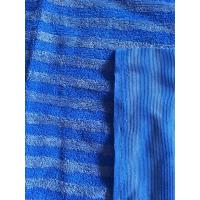China 160cm Width Warp Knitting Blue Eight Grid Microfiber Cleaning Cloth SGS on sale