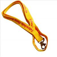 Wholesale Economical promotional polyester lanyards, flat polyester badge lanyard with dog hook, from china suppliers