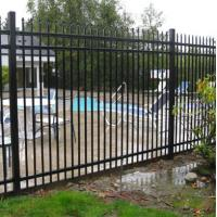 China Metal Cap Aluminum Fence Panels , Metal Garden Fencing Panels ISO9001 Approved on sale