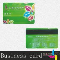 Standard Size Frosted Plastic Business Cards Embossed