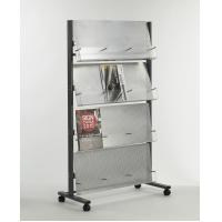 Buy cheap hot sale 4 layer 3 basis iron with power coating magazine rack from Wholesalers