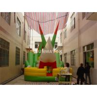 Wholesale Funny Large Inflatable Bouncy Slide With 18Oz PVC Tarpaulin For Kids from china suppliers