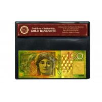China 3D 24K Gold $100 Australian Banknotes One Hundred Dollar Gift with COA frame For 2015 on sale