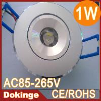 Wholesale  high power 1W led ceiling light 100lm epistar chip AC85~265V warm white CE&ROHS  from china suppliers