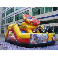 inflatable 0.55mm pvc tarpaulin hot sell funny car slide