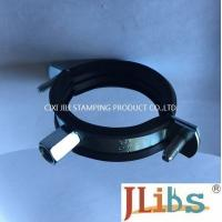Zinc Plated Cast Iron Pipe Clamps With Rubber And M8 / M10 Nut And Plastic Anchor