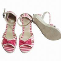 Wholesale Hot Girls' Wedge Shoes, Espadrilles Canvas Upper, TPR Outsole, Sized 28 to 35# from china suppliers