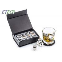 Wholesale Mirror Polish Stainless Steel Cooling Cubes / Whiskey Stones Gift Set Silver Color from china suppliers