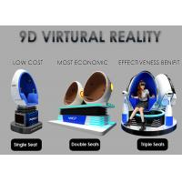 Fashion Investment 9D VR Cinema 1 / 2 / 3 Seats Color Customized For Adult