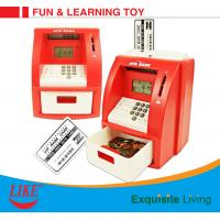 China ATM piggy bank electronic toy for kid Blue/White Color USD currency recoginition ABS plastic with VIP bank card on sale