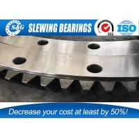 Quality Wide Range Single Row Four Points Contact Ball Bearing Excavator Slewing Bearing for sale