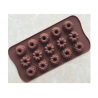 Buy cheap 21.5 * 11.0 * 2.0cm Silicone Chocolate Molds Custom Color With Flower Shape from wholesalers