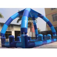 China Blue PVC Kids Swimming Pools , Heat sealed Inflatable Swimming Pools 0.9 mm on sale