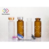 Wholesale Clear Small Glass Vials With Cork Tops / Small Drift Bottle 20ml - 24x 65mm from china suppliers
