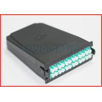 Wholesale 24 LC UPC  MTP Cassette Patch Panel , 100G -10G Multimode OM3 Modular Cassette from china suppliers