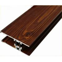 China Customized Furniture Aluminium Profiles , Wood Grain Finished T Slot Aluminum Framing on sale