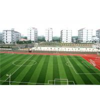China Natural Color Outdoor Synthetic Turf , High School Synthetic Grass Lawn Football Pitch on sale