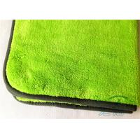 Wholesale Green Plush Buffering Towel / High Absorbtion Microfiber Dusting Cloth For Windows Glass from china suppliers